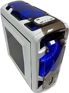 Cortek Gravity Torre Blanco Carcasa de Ordenador - Caja de Ordenador (Torre, PC, Micro-ATX, Blanco, Verde, Frente, Superior): Amazon.es: Informática