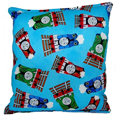 """Thomas The Tank Engine Pillow Thomas The Train Pillow Thomas And Friends Pillow HANDMADE In USA NEW Pillow is approximately 10"""" X 11"""