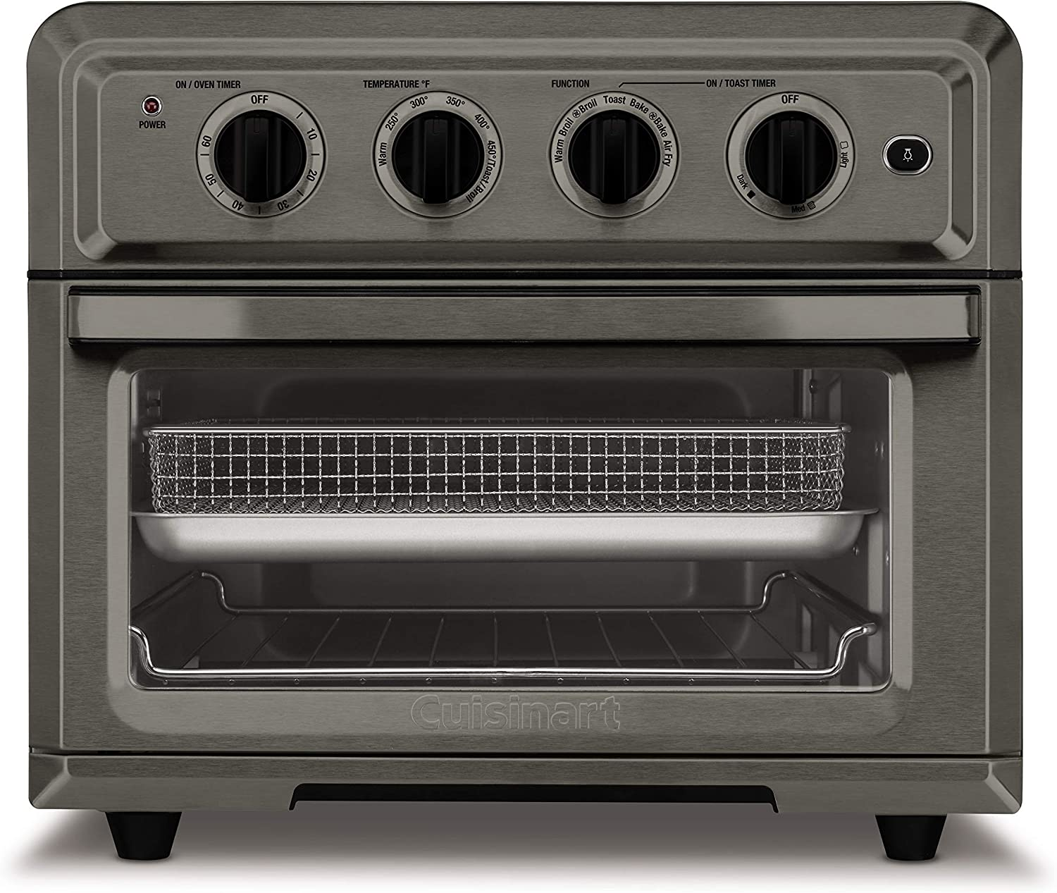 Cuisinart TOA-60BKS Convection Toaster Oven Airfryer, Black SS (Renewed)
