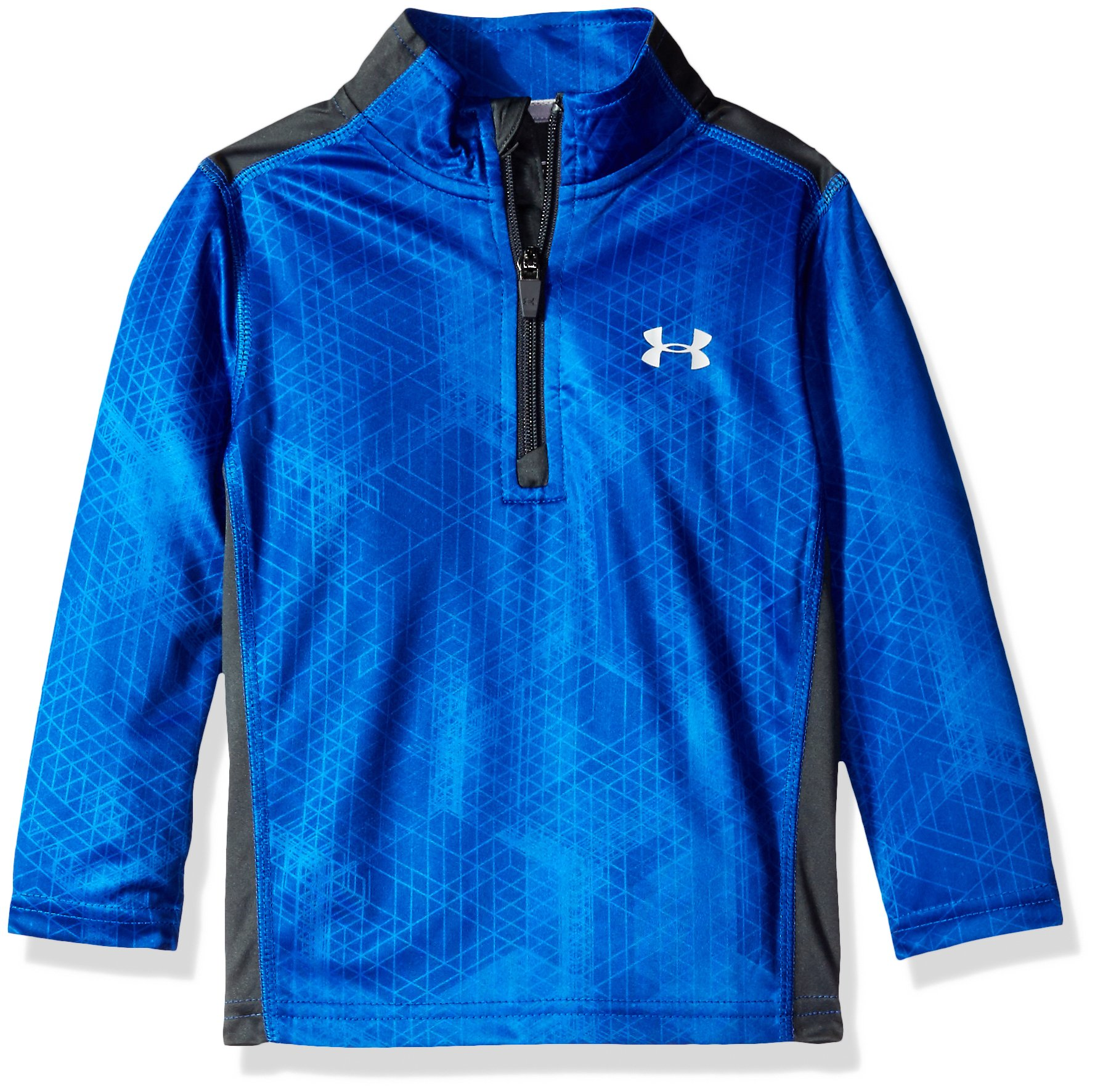 Under Armour Little Boys' 1/4 Zip Long Sleeve Top, Caspian Hexiscope, 5 by Under Armour