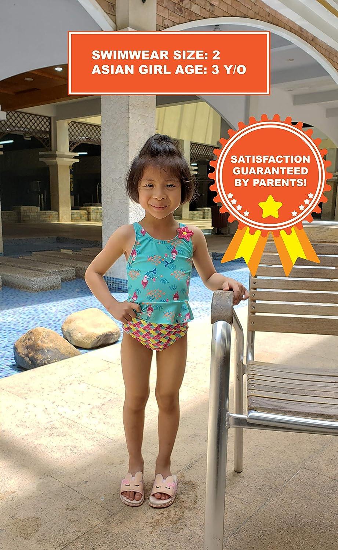 Noon Swim Bikini Tankini Two Pieces Swimwear for Girls Toddler in Size 2T 3T 4T 5T /& 6