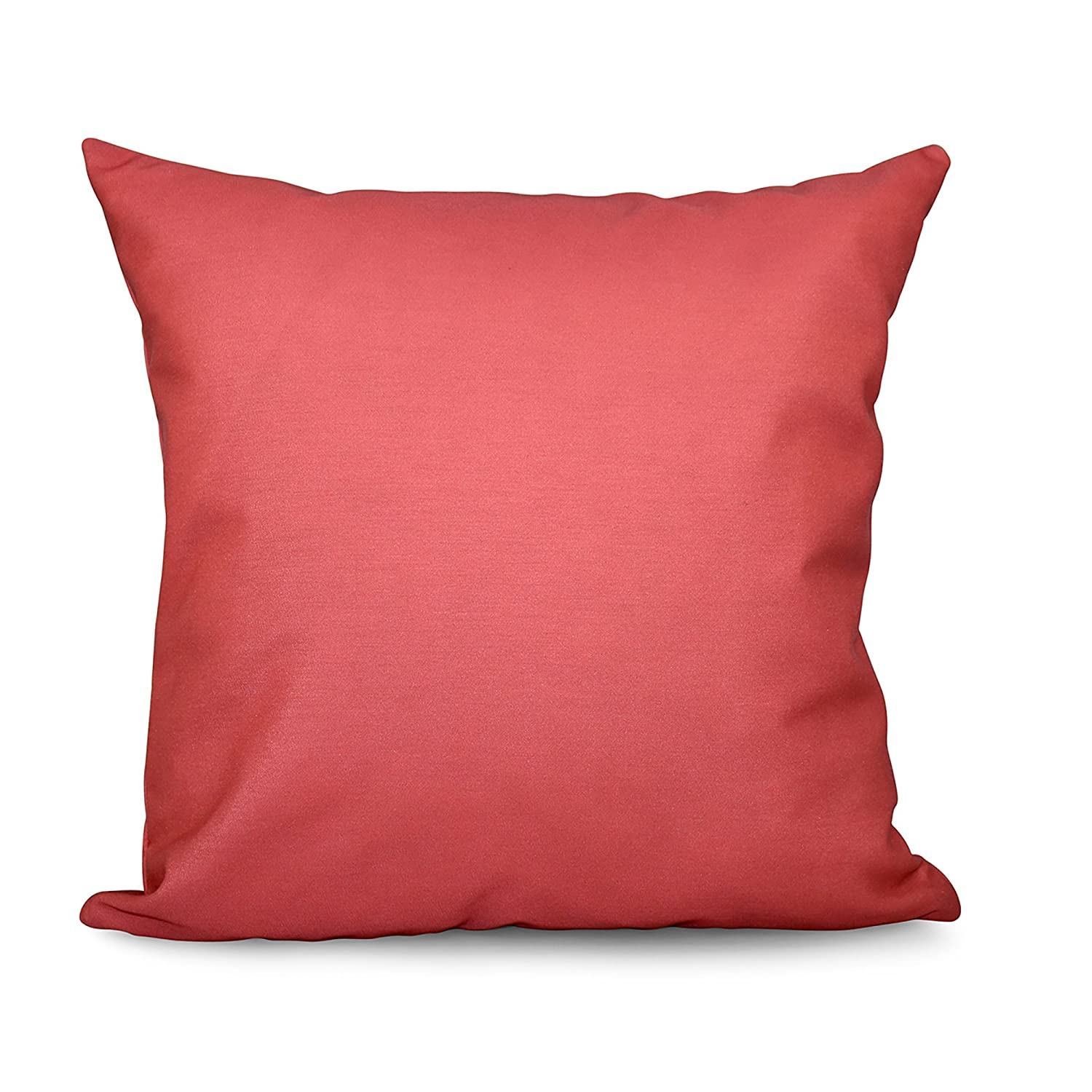 E by design PSO-N50-Coral-20 PSO-N50-Coral-20 Solid Decorative Pillow, Coral,Coral