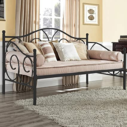 Amazon.com Daybed Frame Twin Metal Day Bed Heavy Duty Steel Slats for Living Room Guest Room Mattress not Include Kitchen \u0026 Dining & Amazon.com: Daybed Frame Twin Metal Day Bed Heavy Duty Steel Slats ...