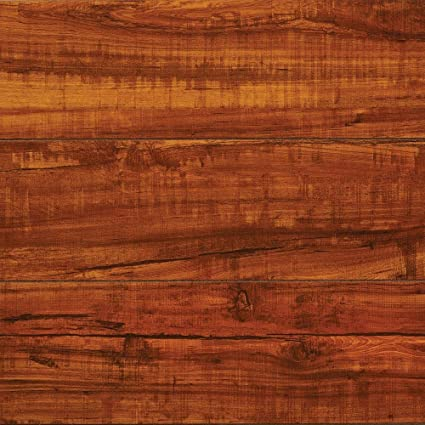 Hampton Bay High Gloss Perry Hickory 8mm Thick X 5 In Wide X 47 34