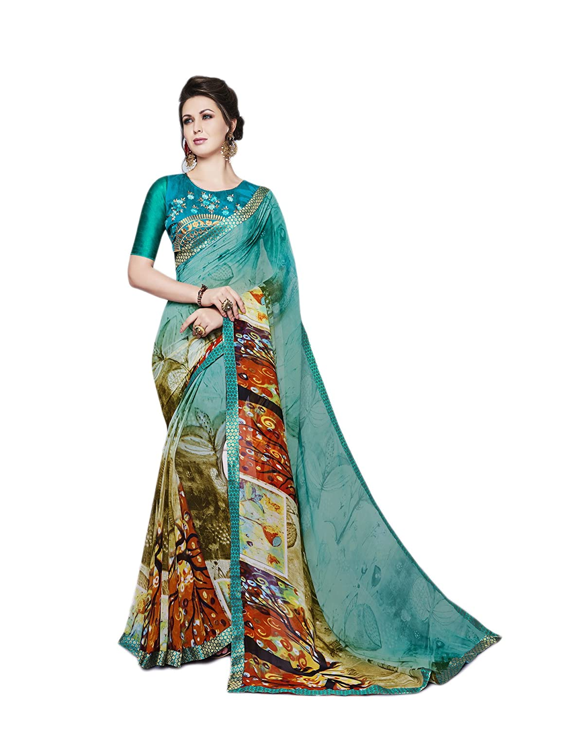 Indian Bollywood Designer Women's Ethnic Traditonal Wear Saree Sari 51009219