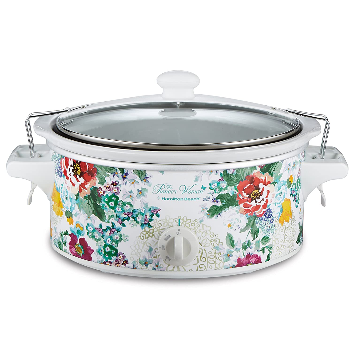 The Pioneer Woman 6 QT Country Garden Portable Slow Cooker with Sealed Lid 33364