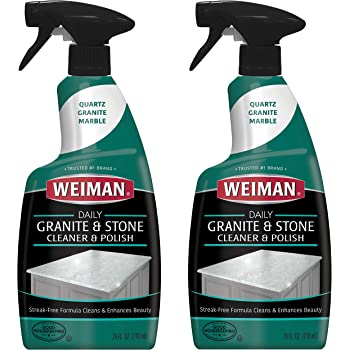 Amazon Com Weiman Granite Cleaner Polish And Sealer Kit