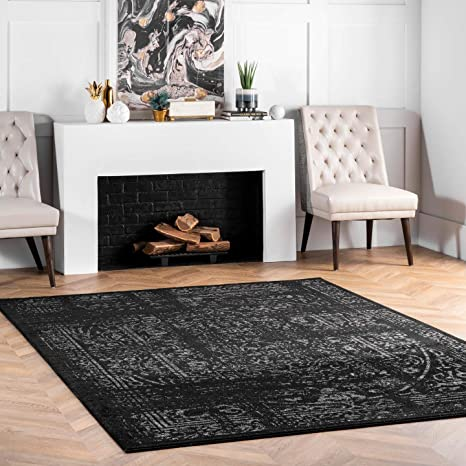 Nuloom Arlena Vintage Area Rug 4 X 6 Black Furniture Decor