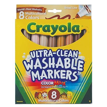 amazon com crayola multicultural colors broad line washable