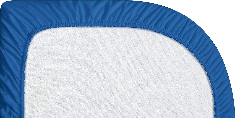 81 x 42 x 10cm Wasserdicht und Atmungsaktiv blau Playshoes 770324-7 Jersey-Spannbettlaken f/ür das Beistellbett blau
