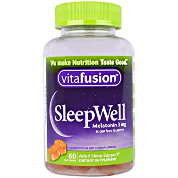 Vitafusion Sleep Well for Adults Sugar Free White Tea with Passion Fruit -- 60 Gummies by Vitafusion: Amazon.es: Salud y cuidado personal