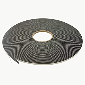 "J.V. Converting SCF-01/BLK125025 JVCC SCF-01 Single Coated PVC Foam Tape: 1/8"" thick x 1/4"" x 75 ft., black"