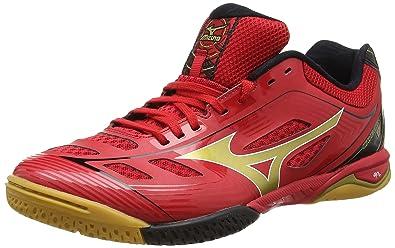 sale retailer 03152 135c8 Mizuno Wave Drive A2 Multi-Court Tennis Shoe, Red Gold Black -