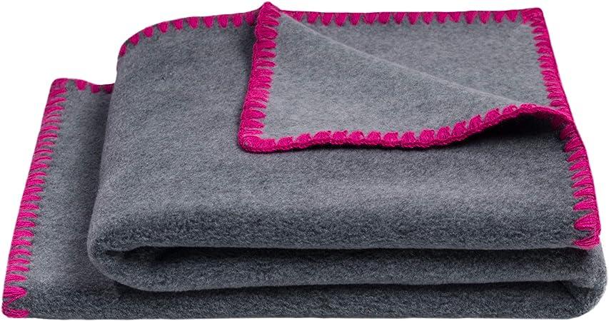 Baby-Decke kuscheldecke weich kinderwagendecke  Polyester 80x100 cm Pink rosa