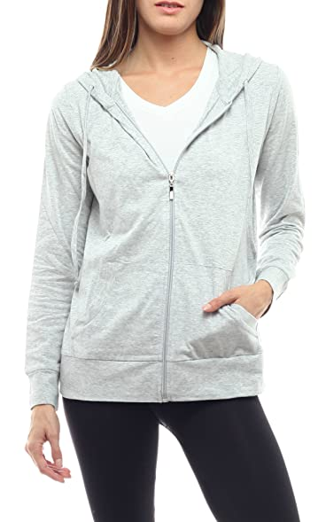 Women Lightweight Cotton Pullover Hoodie with EttelLut Hair Band H ...