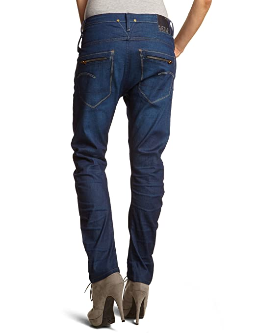 G-STAR Women's Tapered Fit Jeans - Blue - Bleu (Dk Aged) - 42W/36L (Brand  size: 28/34): Amazon.co.uk: Clothing