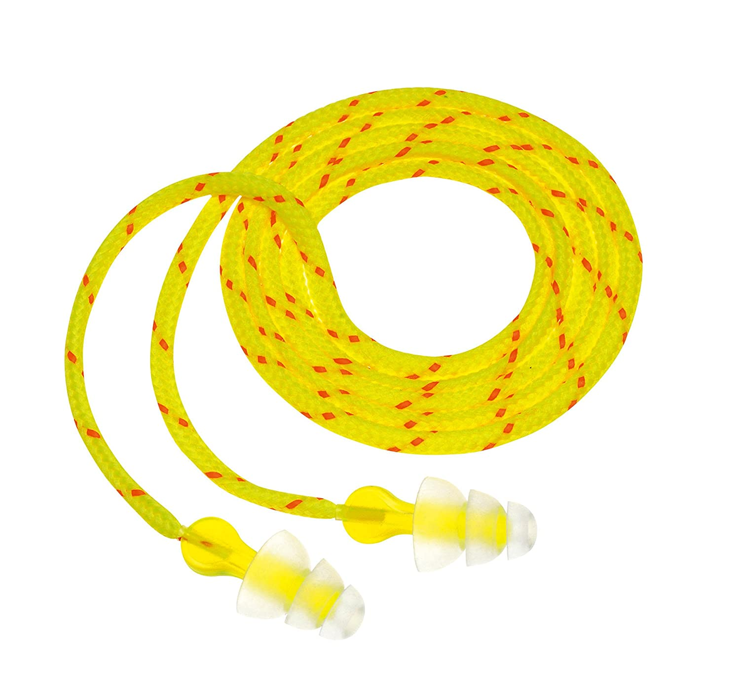 Image of 3M P3001 Multi-Flange Polymer Corded Earplugs Health and Household