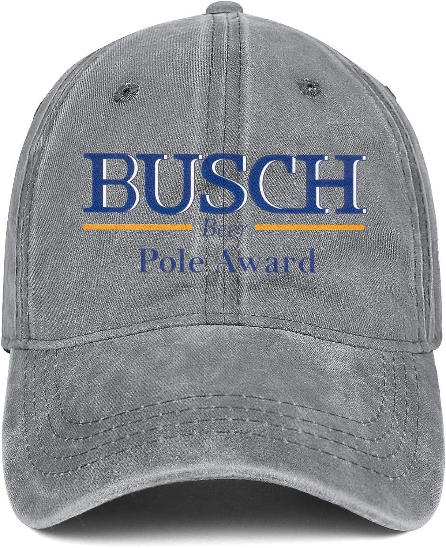 CAEEKER Mens Women Busch-Beer-Pole Cap Designed Cowboy Hats Running Caps Denim