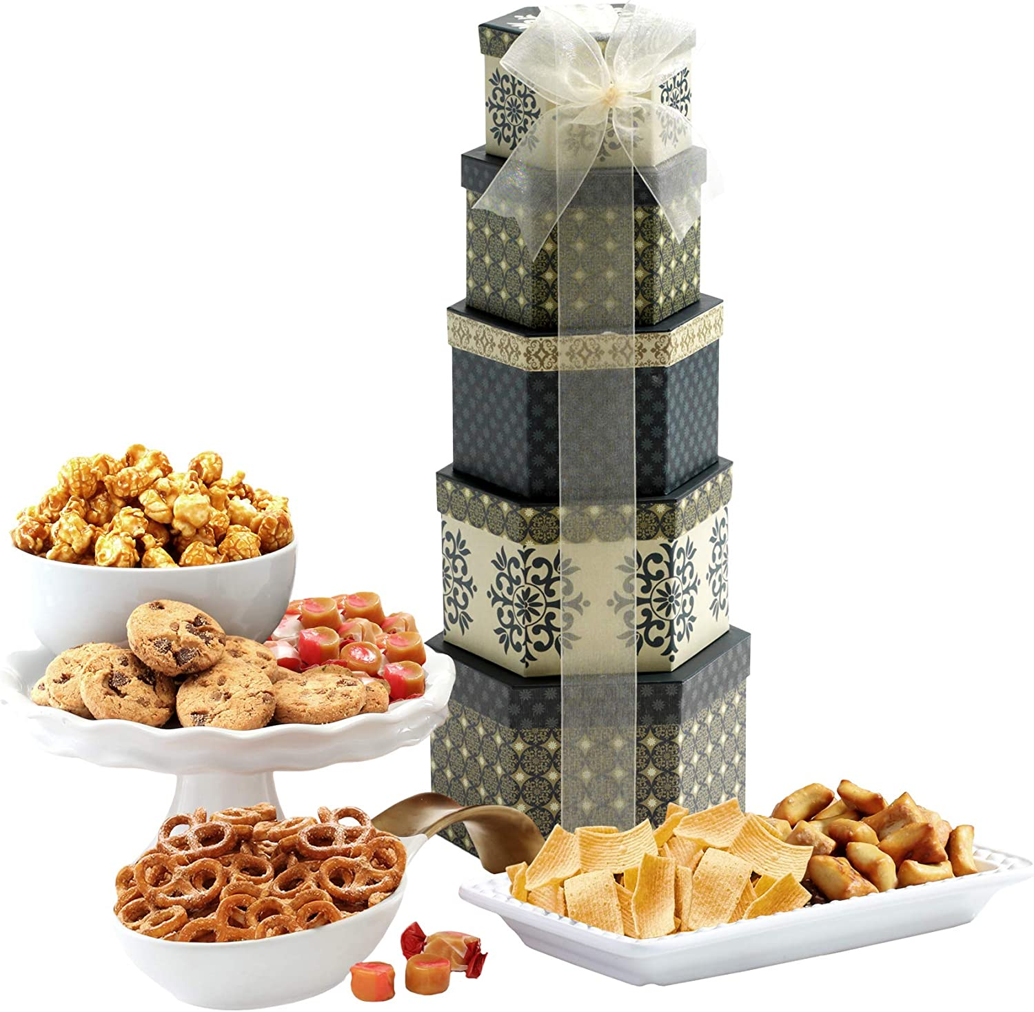 Savory Sweets Thinking of You Gift Tower : Gourmet Snacks And Hors Doeuvres Gifts : Grocery & Gourmet Food