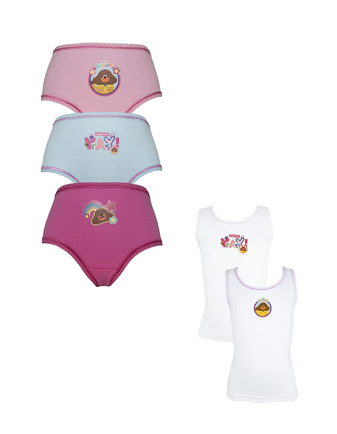 Hey Duggee Girls Pants and Vest Underwear Set 18 Months - 5 Years