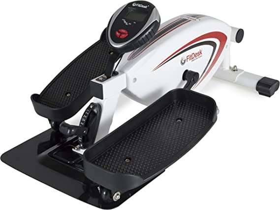 FitDesk Under Desk Elliptical Trainer - Elliptical Bike Pedal Machine for Home Use or Office