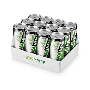 Canna Hemp Infused Energy Drinks - Nootropics Drink Relaxation Beverage for Focused Energy, Stress Relief, & Mood Boost - Vegan Gluten Free & Keto Energy and Sports Drinks - Original - 12 oz, 12 pk