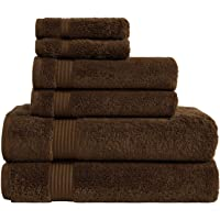 Premium, Luxury Hotel & Spa, Turkish Towel 100% Cotton 6-Piece Towel Set for Maximum Softness and Absorbency by American Veteran Towel