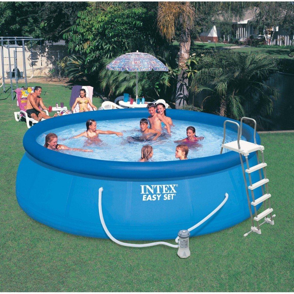 Intex 15ft X 48in Easy Set Pool Set with Filter Pump, Ladder, Ground Cloth & Pool Cover by Intex (Image #5)