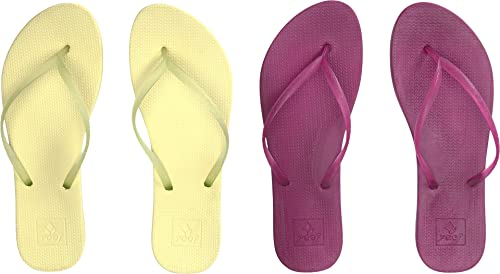 6bc1bc704 Reef Women s Escape Lux 2-Pair Variety Pack Margarita (Lime   Raspberry)  Sandal