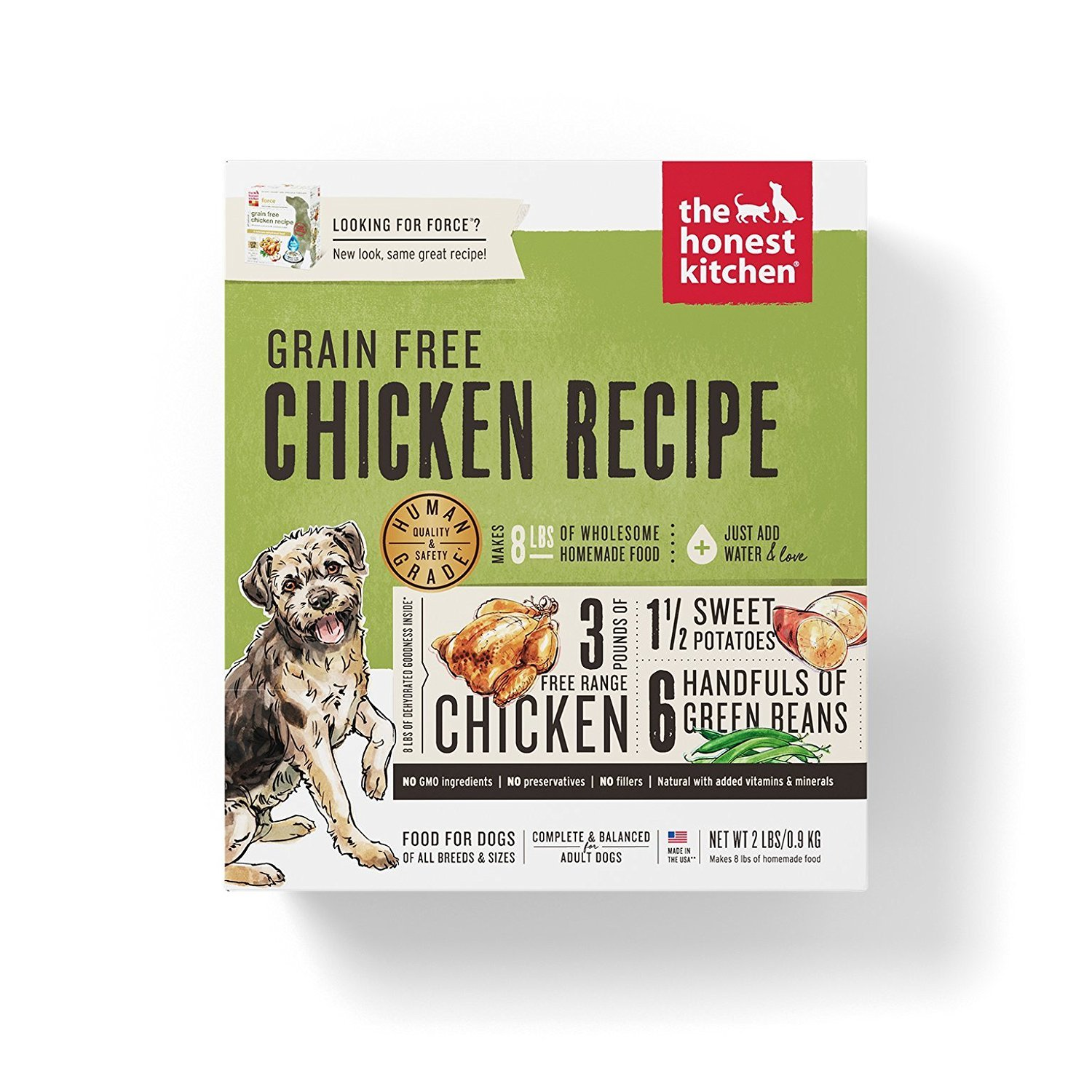 Honest Kitchen Dehydrated Grain Free Chicken Dog Food, 2 lb - Force. Grain Free Dog Food!!
