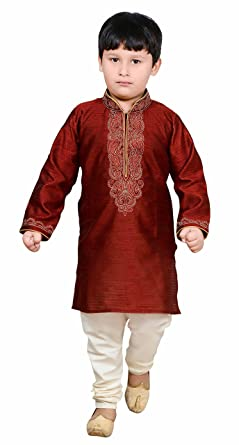 20b24de245 Amazon.com  Boys Indian Sherwani elegant Kurta pyjama Bollywood party fancy  dress outfit 904  Clothing