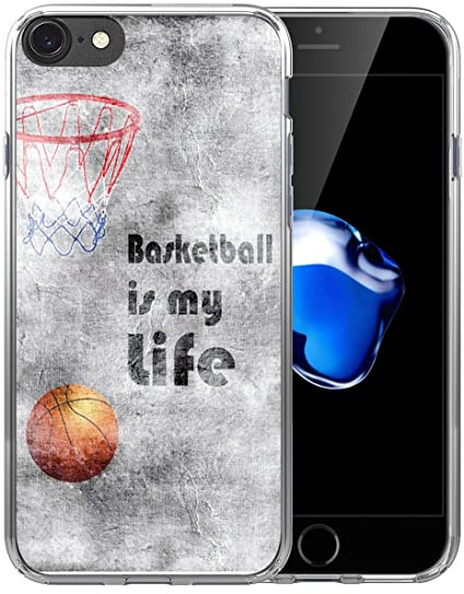 sale retailer e9355 ac2ae 6S Case/6S Case Basketball/IWONE Designer Non Slip Rubber Durable  Protective Skin Cover Shockproof Compatible with iPhone 6S/6 Creative  Painting ...