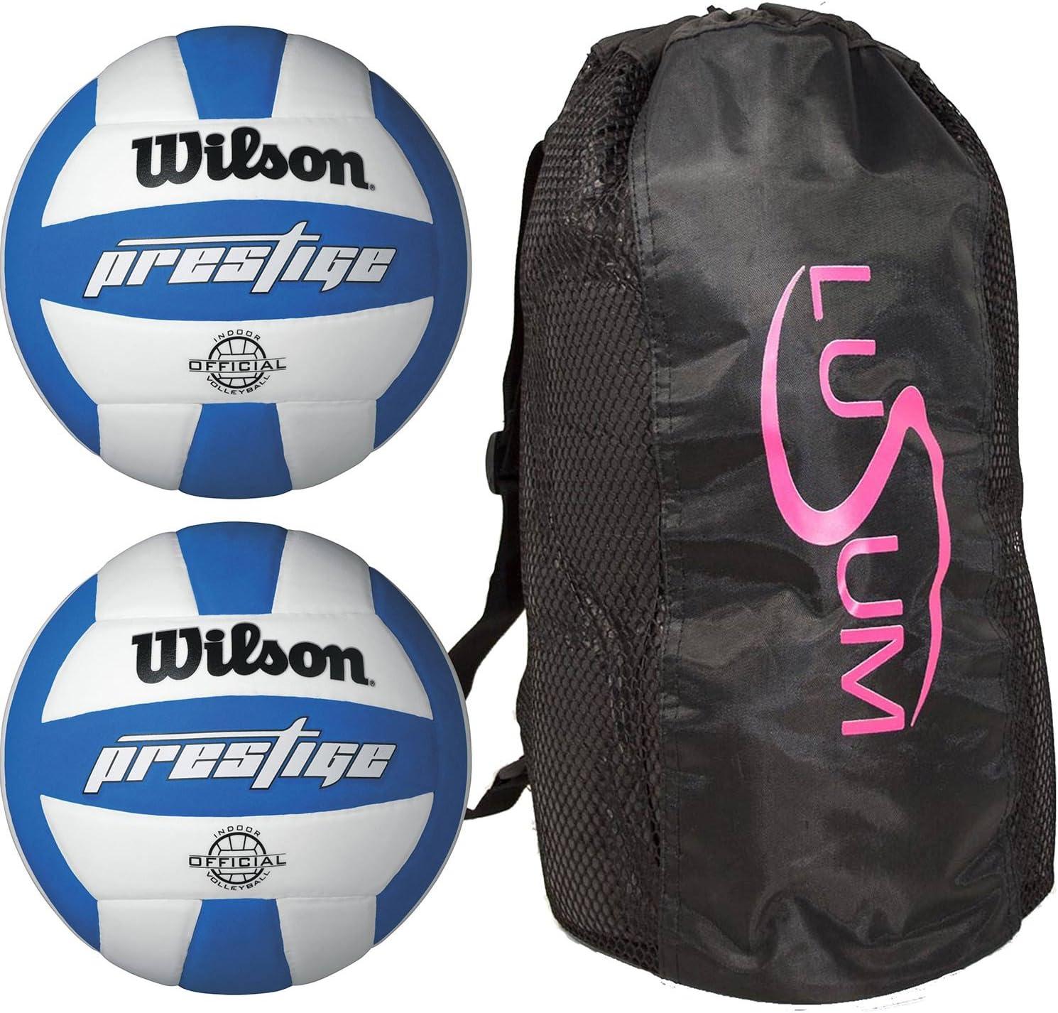 Wilson Prestige balón de Voleibol 2 Pack con Lusum Duffle Bag: Amazon.es: Deportes y aire libre