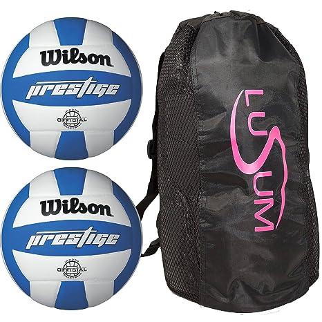 Wilson Prestige balón de Voleibol 2 Pack con Lusum Duffle Bag ...