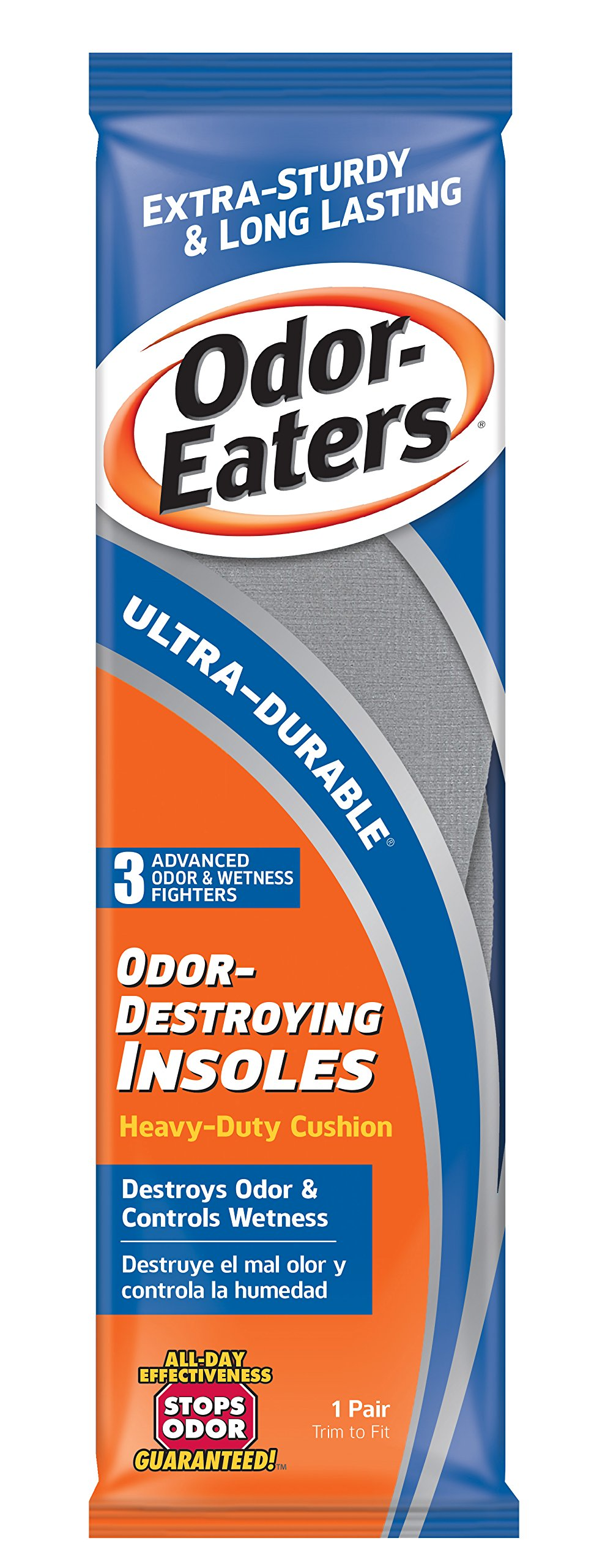 Odor-Eaters Ultra Durable, Heavy Duty Cushioning Insoles, 1 pair