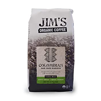 Jim's Organic Coffee Colombian Whole Bean