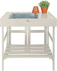Esschert Design Potting Table, White