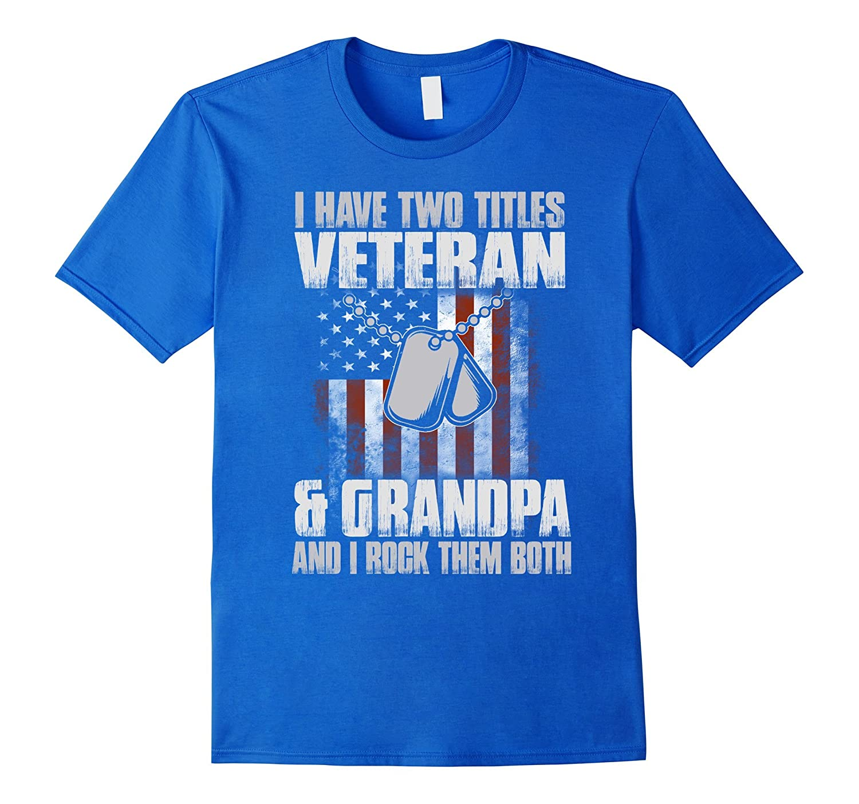 Veteran Grandpa Shirt Day Tee-Newstyleth