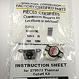 279973 Genuine OEM Whirlpool Dryer Thermostat Thermal Fuse Kit AP3094323