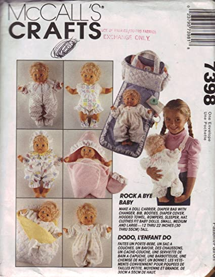 Amazon McCall's Crafts Pattern 60 Baby Doll Clothes And Awesome Mccalls Craft Patterns