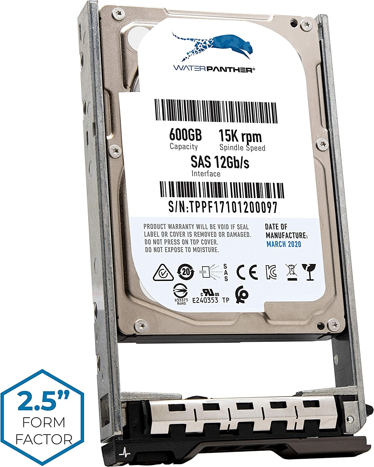 """600GB 15K SAS 12Gb/s 2.5"""" HDD for Dell PowerEdge Servers 