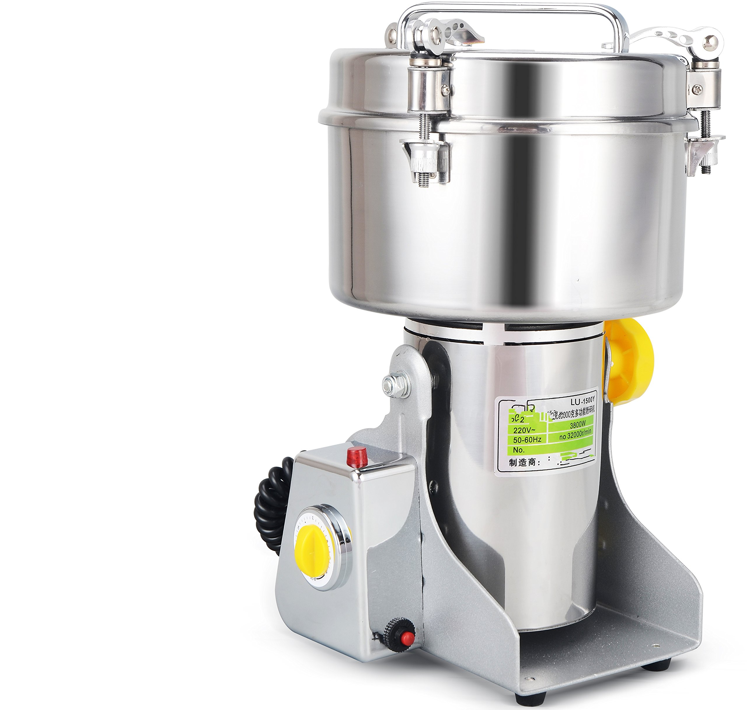 Chinese Medicine Grinder | Magic Ready in Few Minutes Herb Grinder| Large Scale 2000g 2KG Electric Spice and Nut Grinder | 110V USA /220V | Grain Pulverizer | Seed Mill | CE Certification
