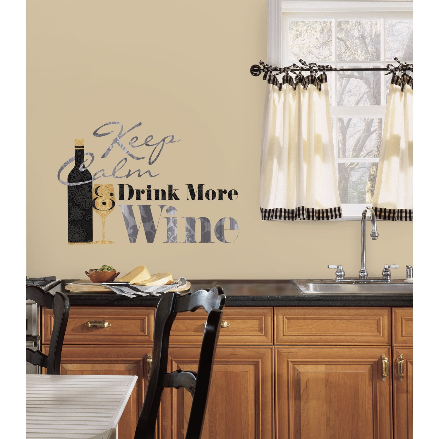 roommates rmk2373scs keep calm and drink wine quote peel and stick roommates rmk2373scs keep calm and drink wine quote peel and stick wall decals 1 pack decorative wall appliques amazon com
