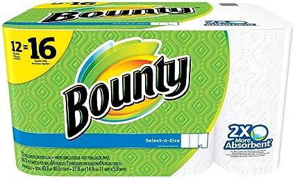 Bounty select-a-size toallas de papel, blanco, 12 rollos H&PC-