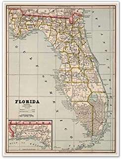 Orange County Florida Map.Amazon Com Map Of Orange County Florida By J O Fries Circa 1890