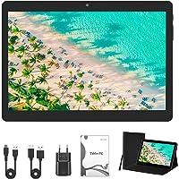 Tablet de 10 pulgadas (25,53 cm), Android 10.0, 4 GB de RAM/64 GB de ROM/1200 x 800 FHD, Dual SIM, WiFi, GPS, con funda…