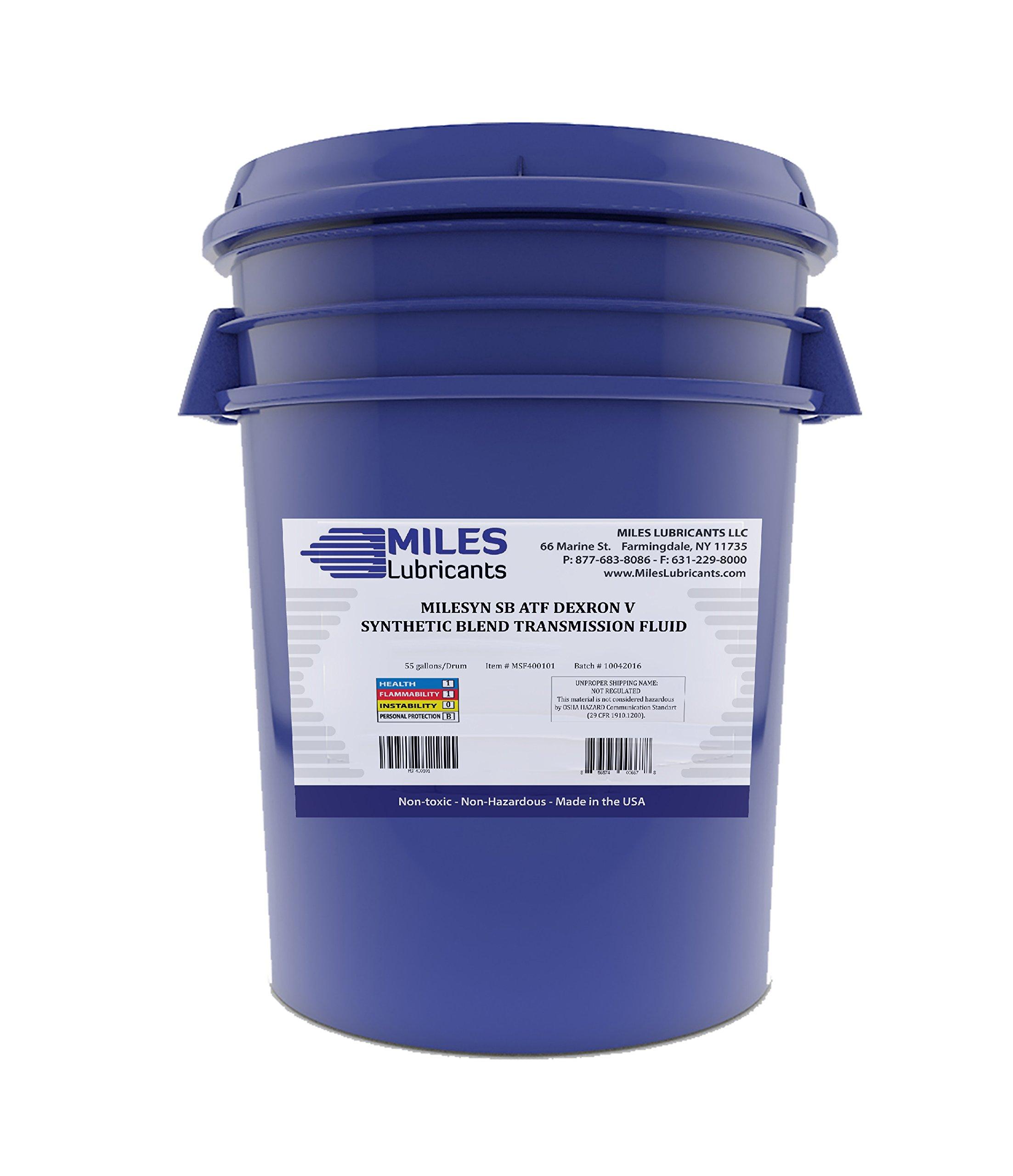 Milesyn Sb Atf Synthetic Blend Atf Trasnmission Fluid Dexron V 5 Gallon Pail