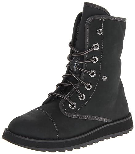 Skechers Women's Keepsakes-Mid Adjustable Winter Boot, Black, 7.5 M US