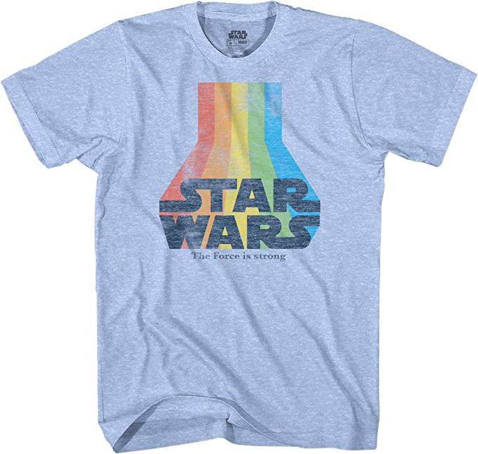Star Wars Womens Rainbow Logo Tie Dye Crew Neck Graphic T-Shirt