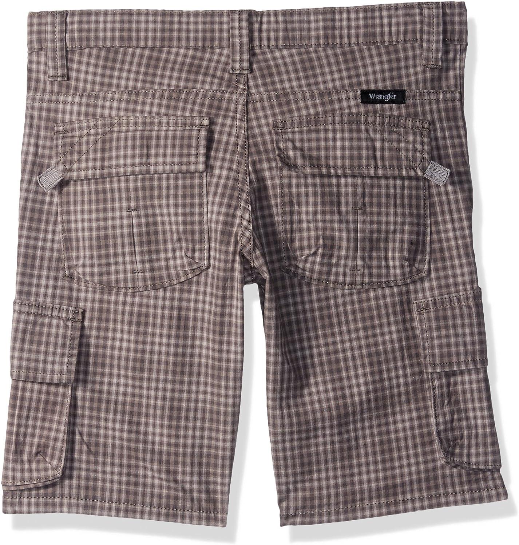 Wrangler Authentics Boys Fashion Plaid Cargo Short